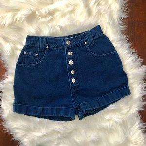VTG High Waisted shorts denim jean sz 3 4 W24